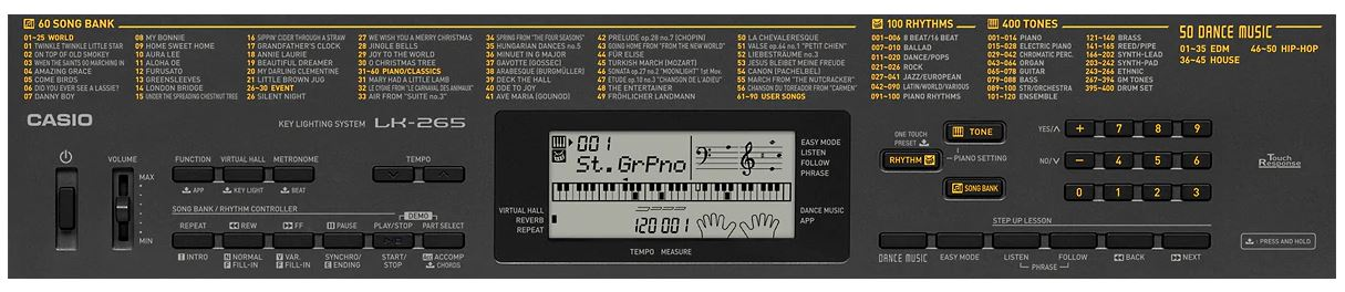 Casio LK-265 Feature