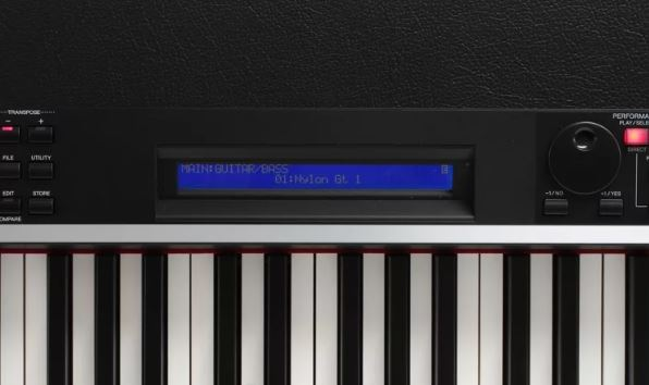 Yamaha Cp4 display screen in front
