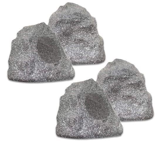 4R4G New Wired Outdoor Garden Waterproof Granite Rock Patio Speakers $105