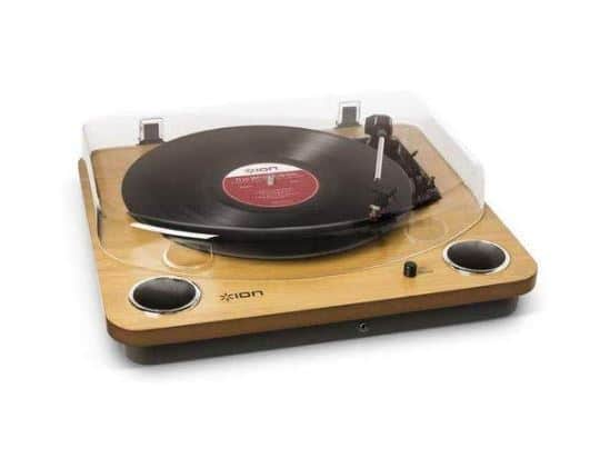 ION Audio Max LP - Three Speed Vinyl Conversion Turntable with Stereo Speakers