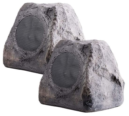 "OSD Audio 5.25"" 100W Outdoor Rock Speaker Pair - Weather Resistant Stereo – RX550Slate"