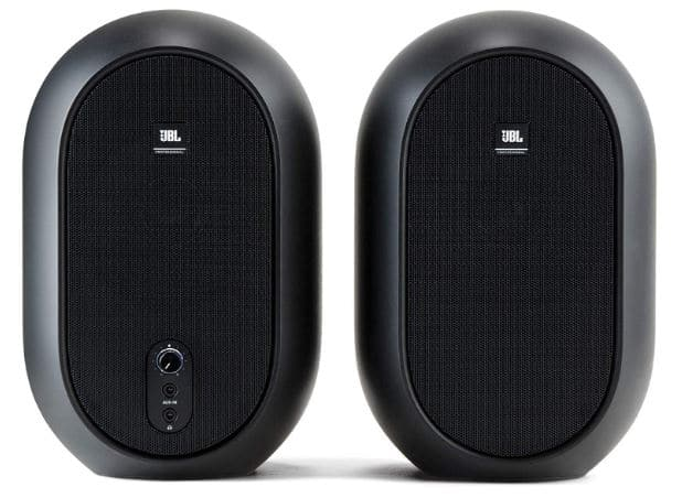 Front face of jbl 1 series 104 audio monitors