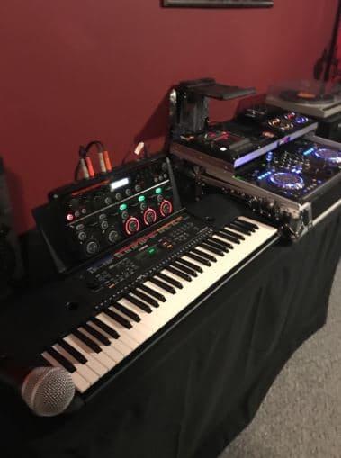 my audio setup with Yamaha PSR E363 epy