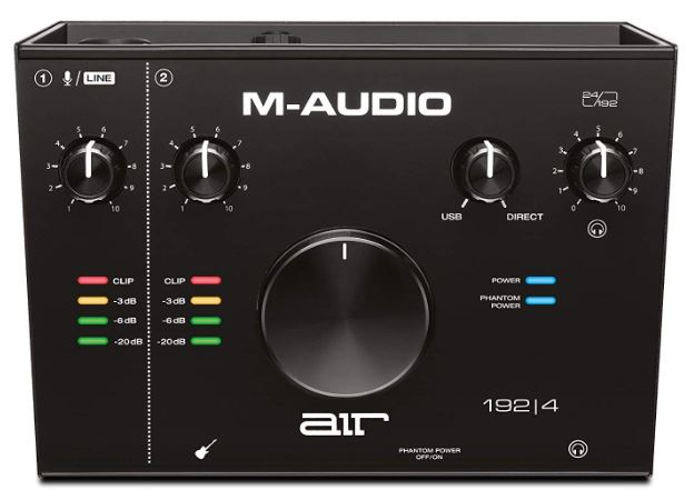 M-Audio AIR 192|4 - 2-In 2-Out USB Audio Interface with Recording Software