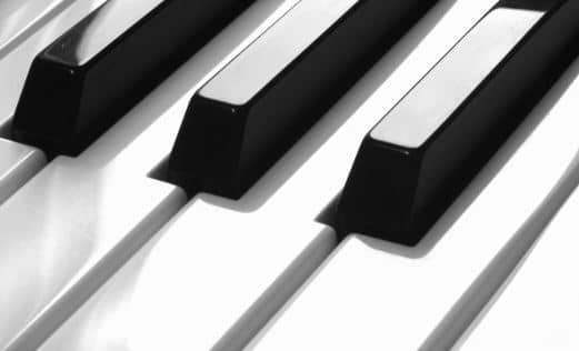 Black and white piano keys Total 88