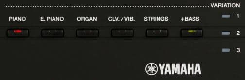 P125 sound options on front panel