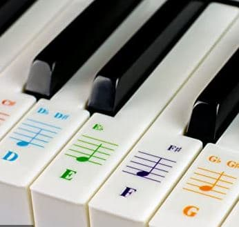 Piano Labels - Also known as piano stickers