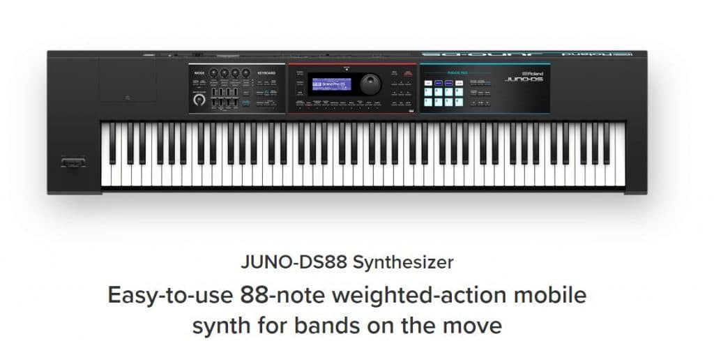 Roland Juno DS 88 Review - The powerful 88 key keyboard-synthesizer