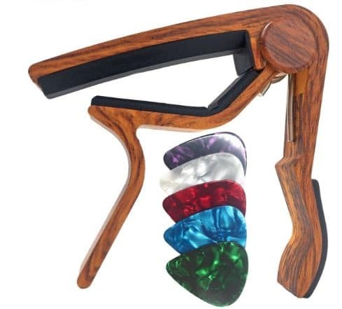 WINGO Guitar Capo for Acoustic and Electric with 5 picks