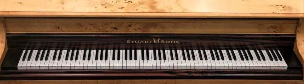 What pianos have more keys - 108 Keys Stuart and Sons Pianos