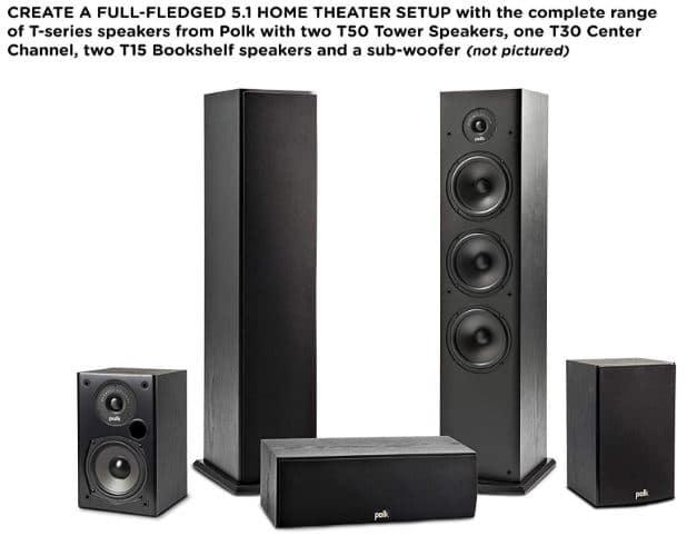 Polk Audio T15 bookshelf speakers review