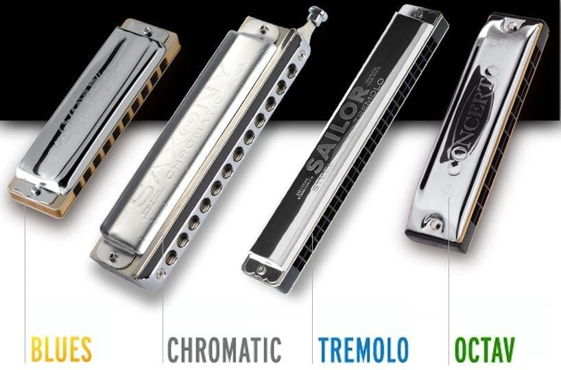 Blues - Chromatic - Tremolo - Octav - Orchestral and Bass Category Of Harmonica