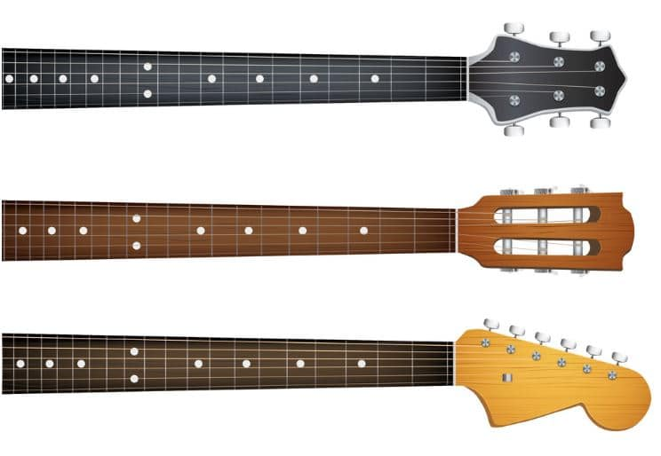 Metal Guitars Necks Selection