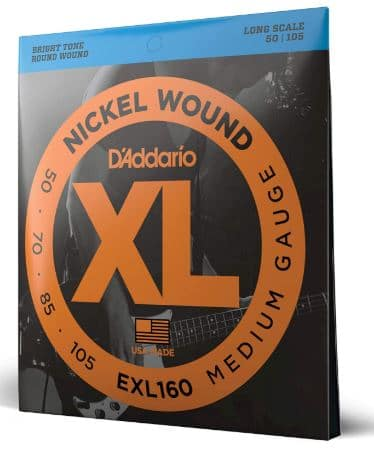 D'Addario EXL160 Nickel Wound Bass Guitar Strings