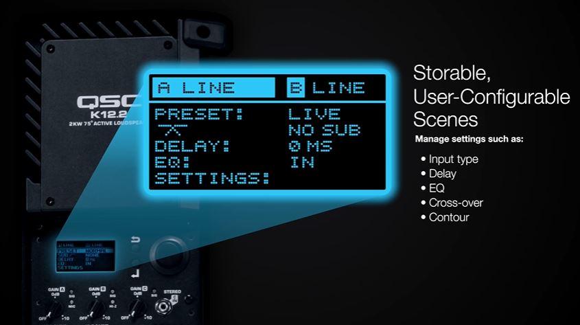 Setting Screen of QSC K.2
