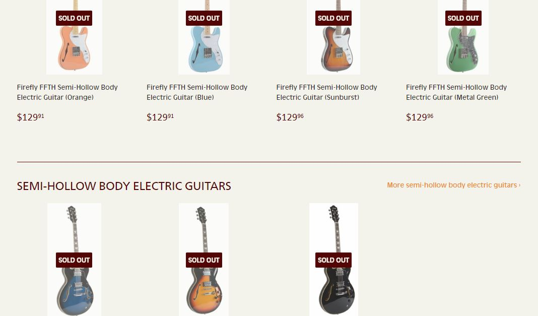 Comletely Sold Out On Guitar Garden