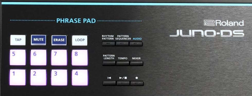 Phrase Pads Roland Juno DS 61 Keyboard
