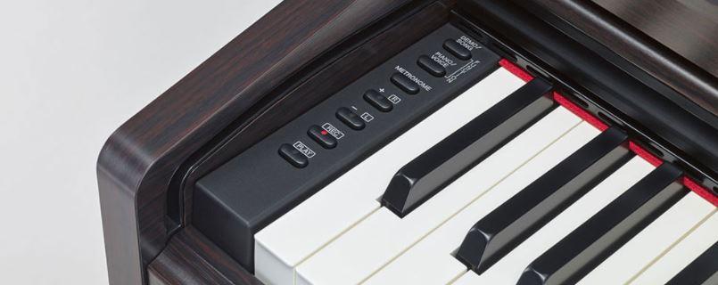Recording - Metronome - Volume control panel on left side