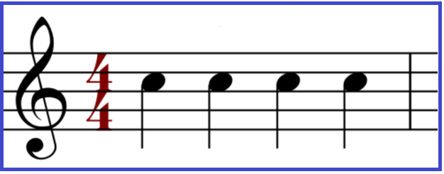 One beat = Quarter Note