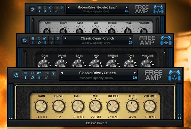 Blue Cat's Free Amp - The free guitar amp simulation plug-in